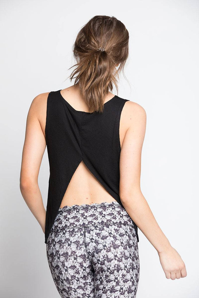 Open Back Tank - Black - INFLOWSTYLE  - 1
