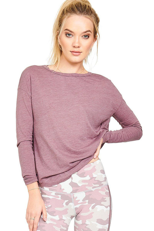 Pacific Reversible Twist Tee - Thistle