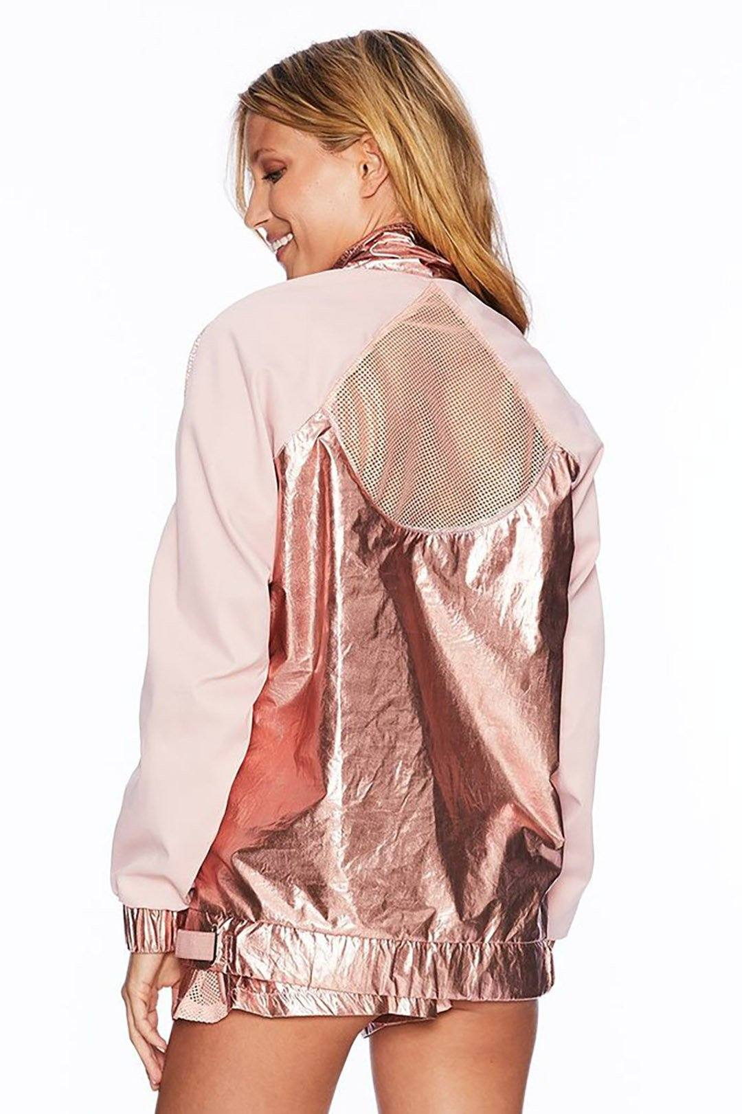 Metallic Jacket - Rose Gold