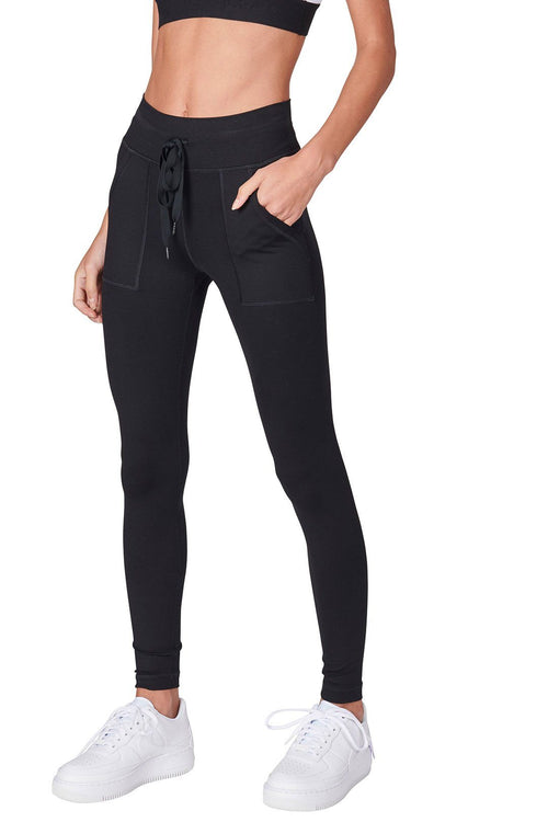 Patch Pocket Legging - Black