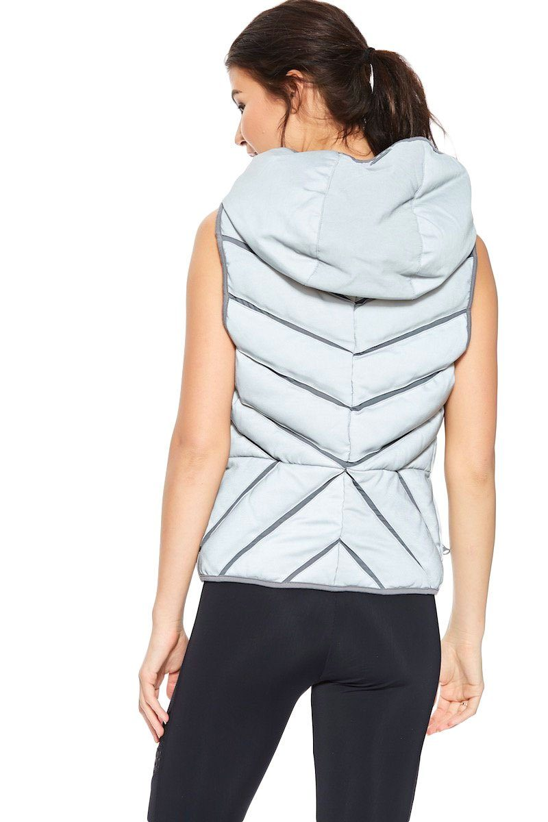 Mesh Inset Puffer Vest - Reflective