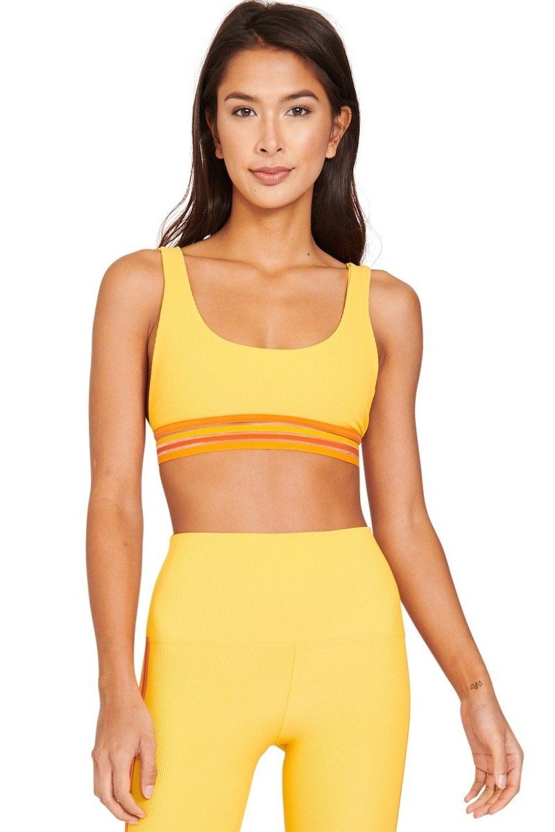 Ribbed Clementine Top - Yellow