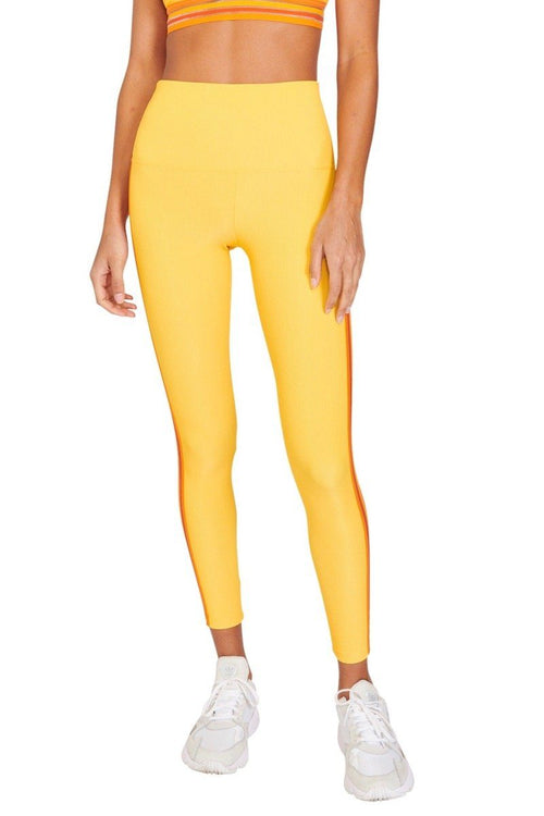 Ribbed Sadie Legging - Yellow