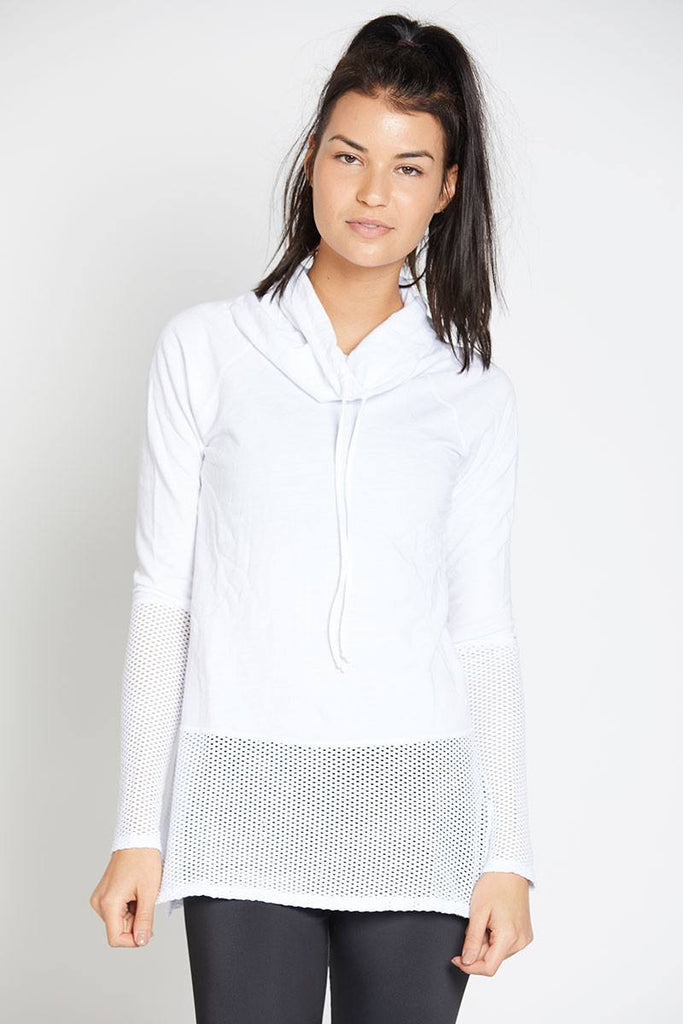 Ricky Long Sleeve Pullover - White - INFLOWSTYLE  - 2