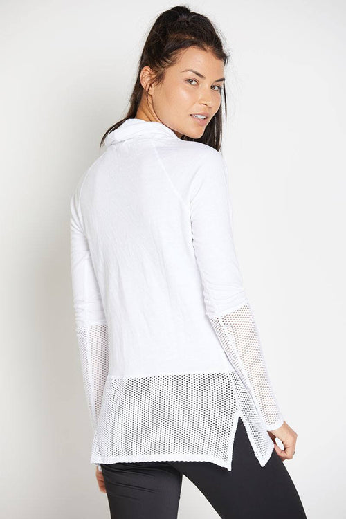 Ricky Long Sleeve Pullover - White - INFLOWSTYLE  - 3