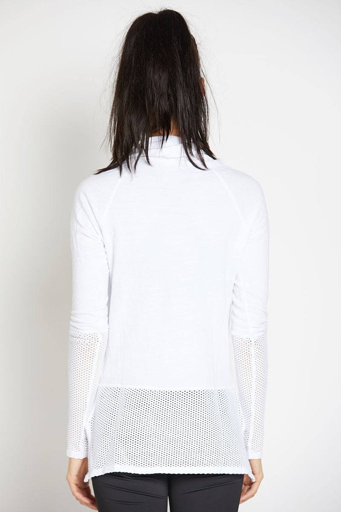 Ricky Long Sleeve Pullover - White - INFLOWSTYLE  - 4