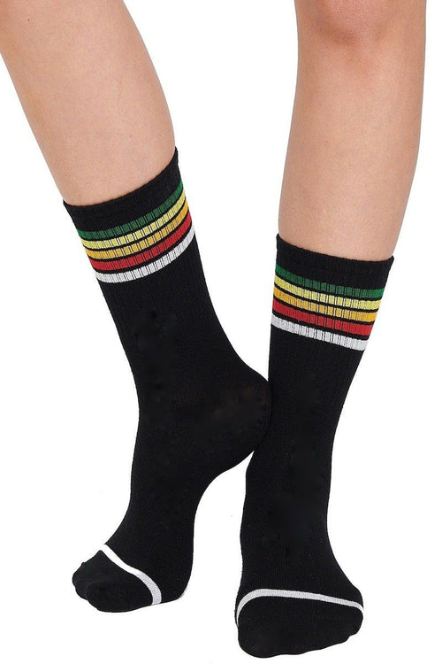 Rainbow Crew Socks - Black