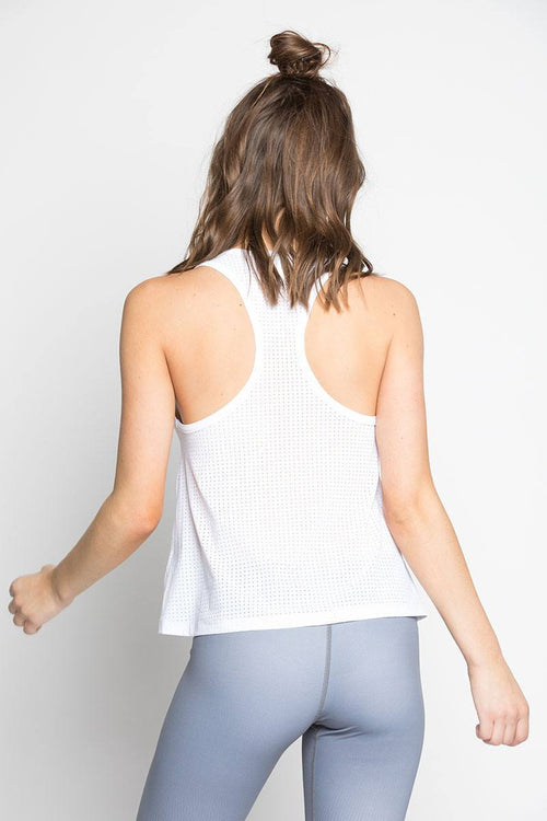 Scoop Tank - White - INFLOWSTYLE  - 2