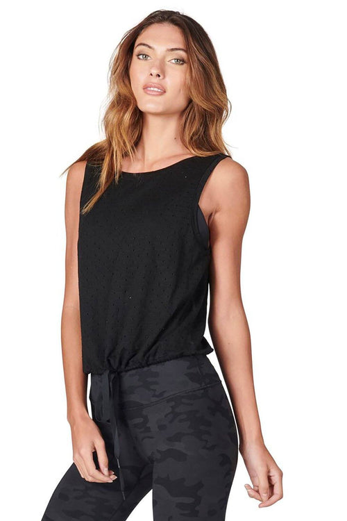 Aerie Scoop Back Tank - Black - Vimmia | INFLOWSTYLE