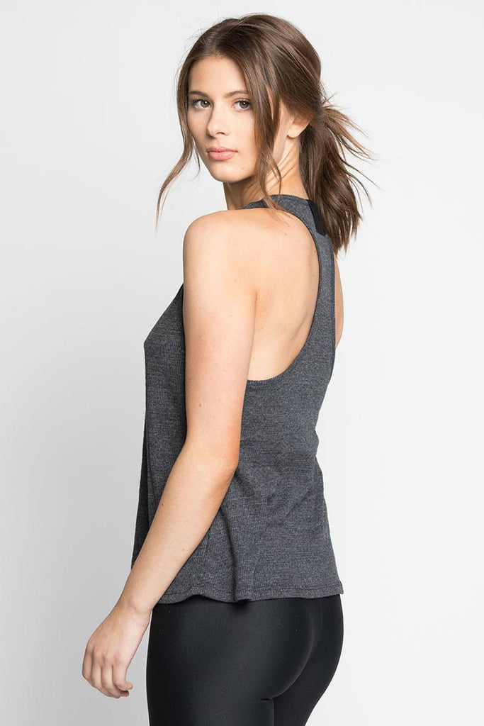 Scoop Tank - Charcoal - INFLOWSTYLE  - 2