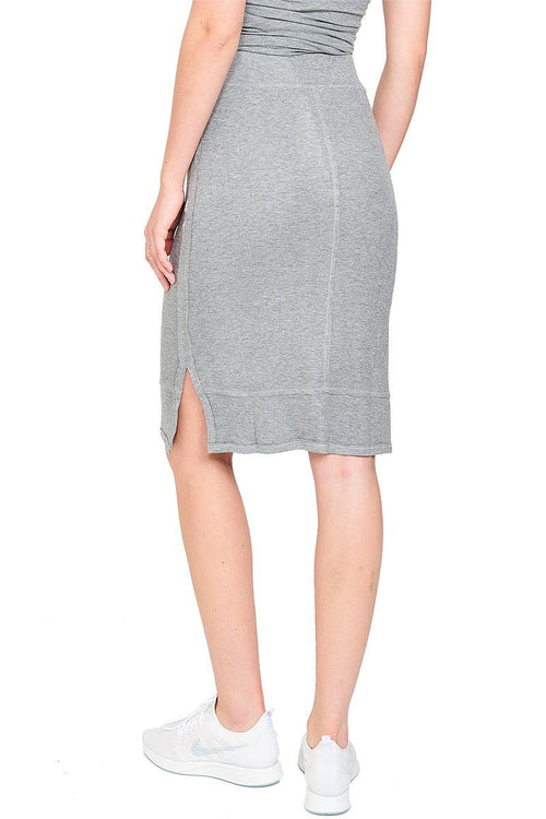 Serenity Tube Skirt - Light Heather Grey