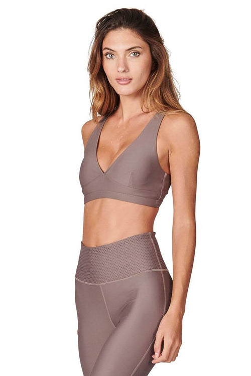 Abbey Stone Sports Bra - Cocoa - All Fenix | INFLOWSTYLE