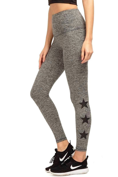 Star Ankle Legging - Grey Moss/Black Star - Strut-This | INFLOWSTYLE