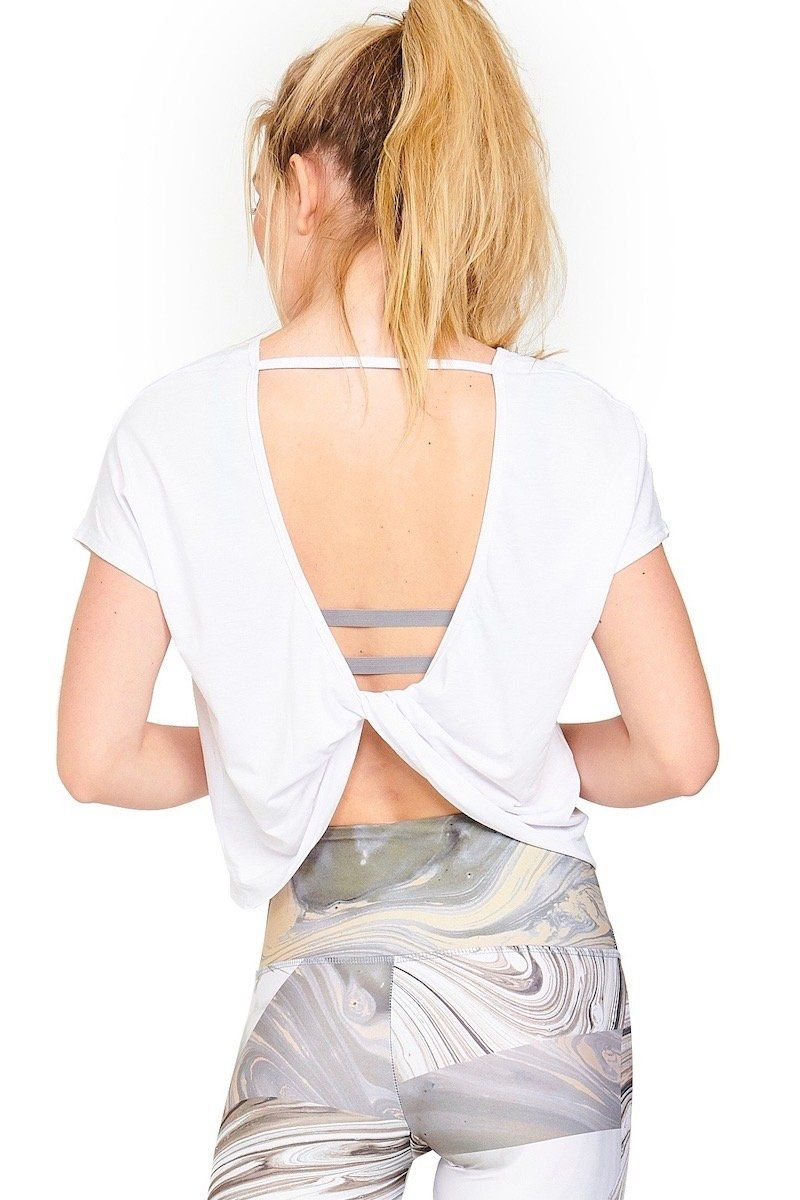 Swing Back Top - White