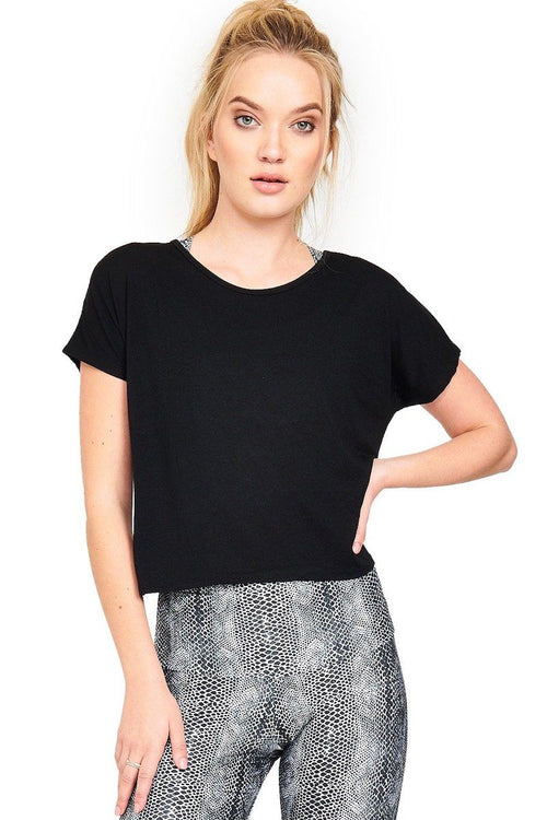 Swing Back Top - Black