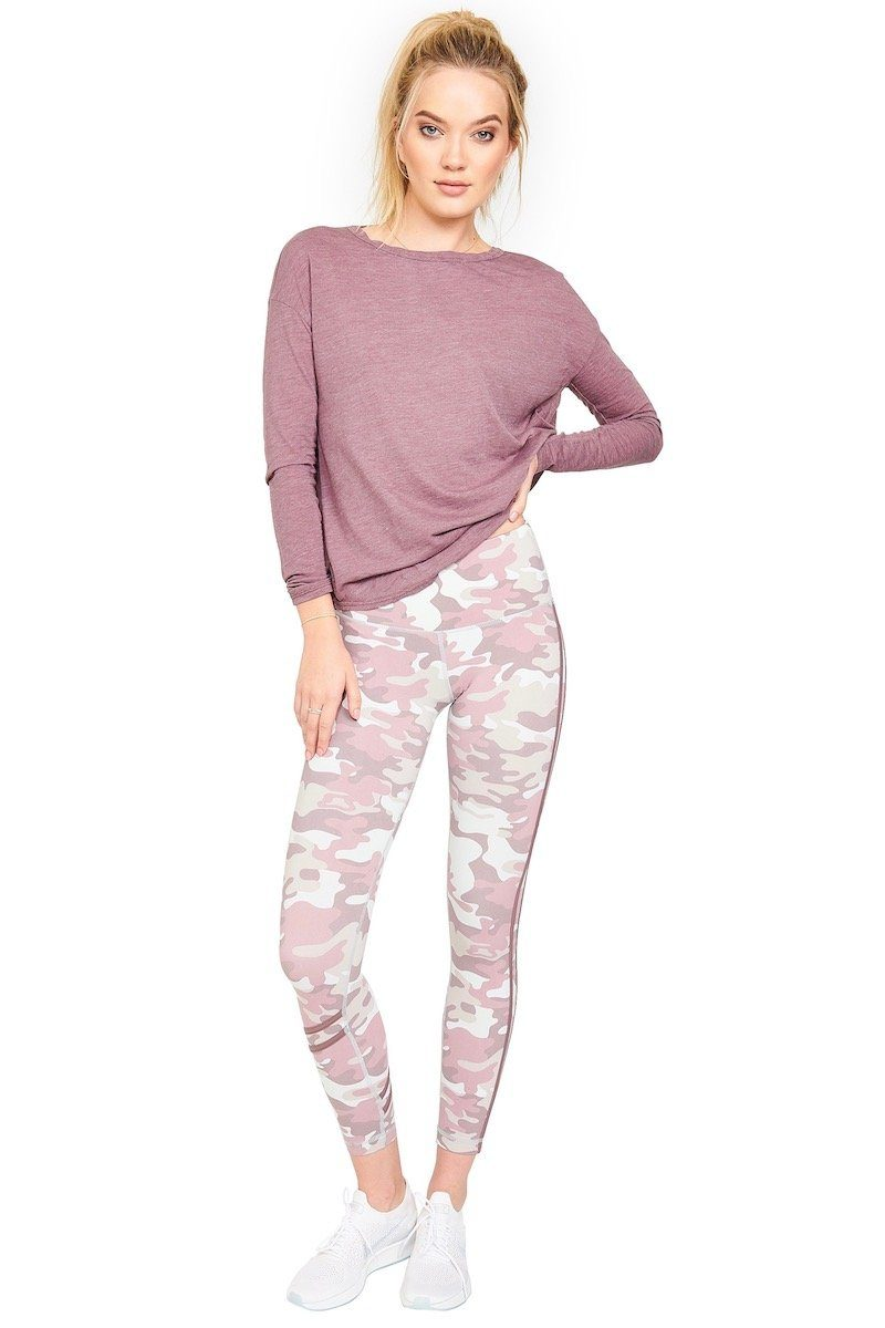 High Waisted Fire Legging - Thistle Camo - Vimmia | INFLOWSTYLE