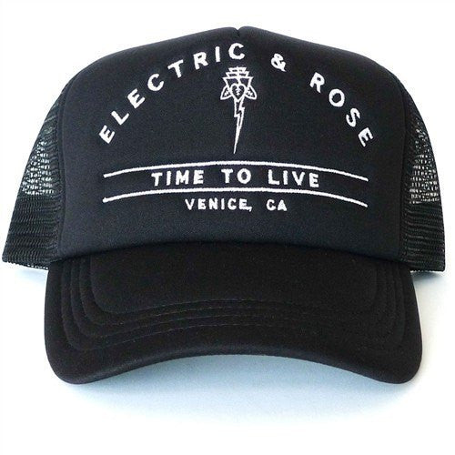 Time To Live Hat - Black - INFLOWSTYLE  - 1