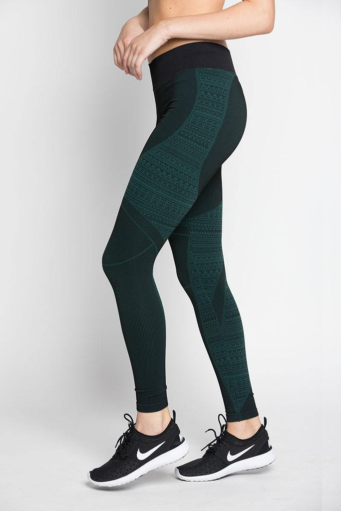 Tulum Legging - Evergreen - INFLOWSTYLE  - 1
