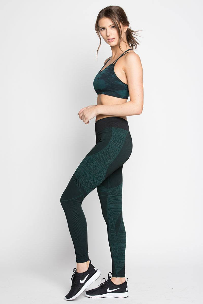 Tulum Legging - Evergreen - Nux | INFLOWSTYLE