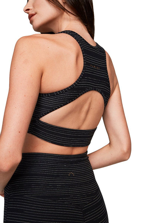 Brooks Crop - Black Linear - Varley | INFLOWSTYLE