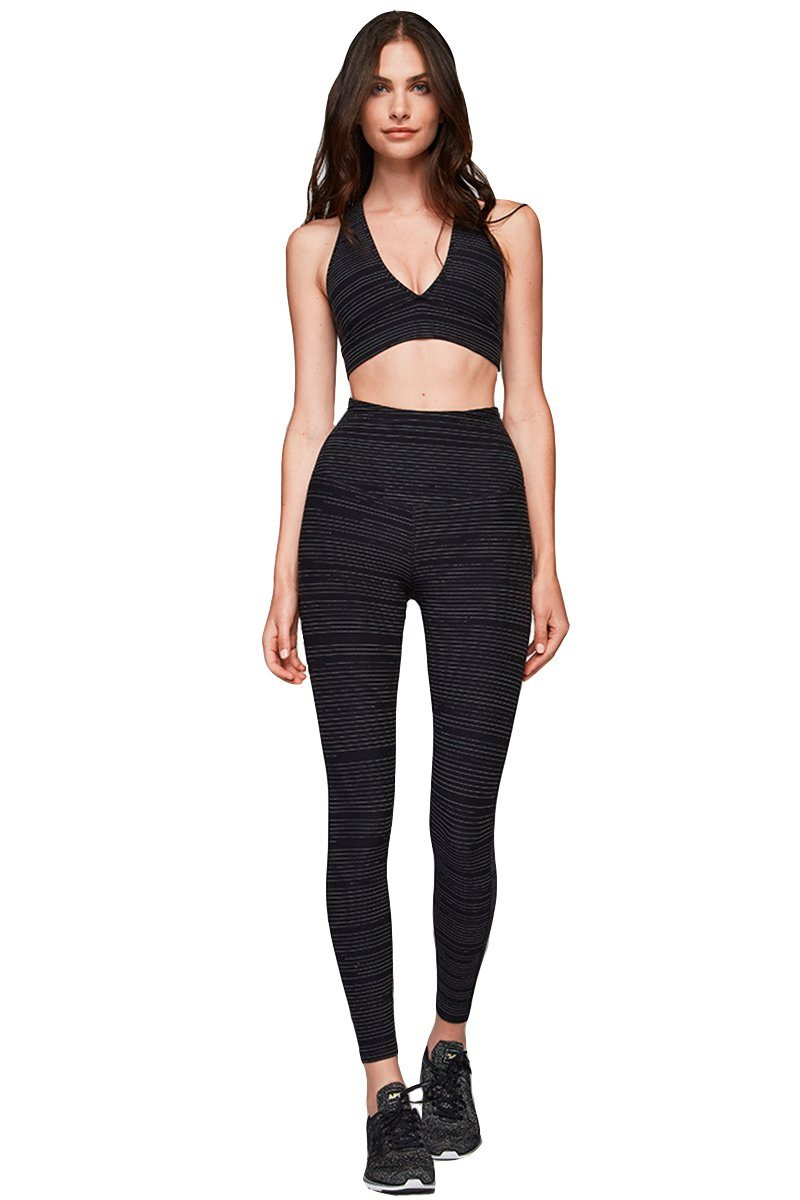 Brooks Crop - Black Linear