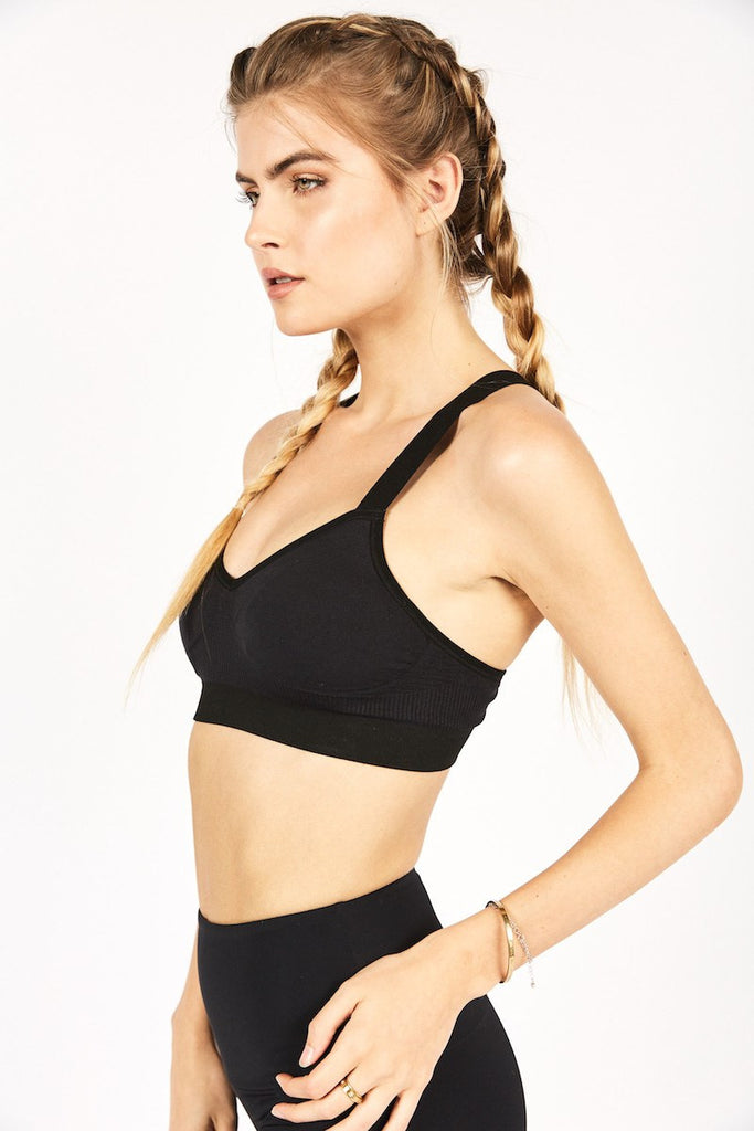 Vinyasa Seamless Racer Back Bra - Black