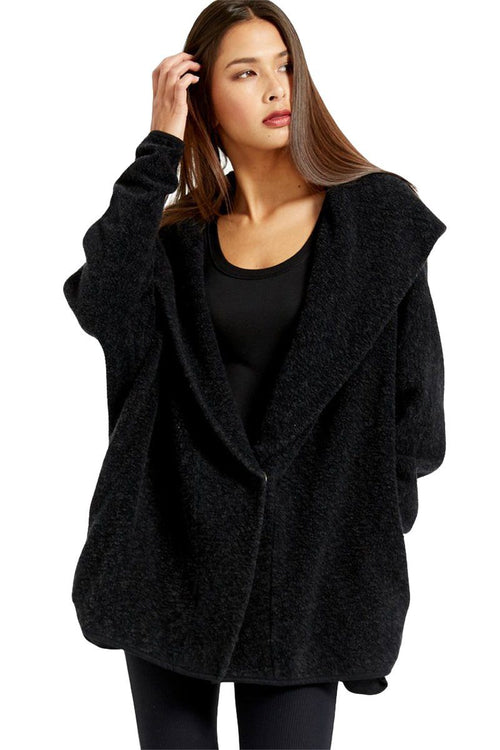 Warmth Hooded Cardi - Black