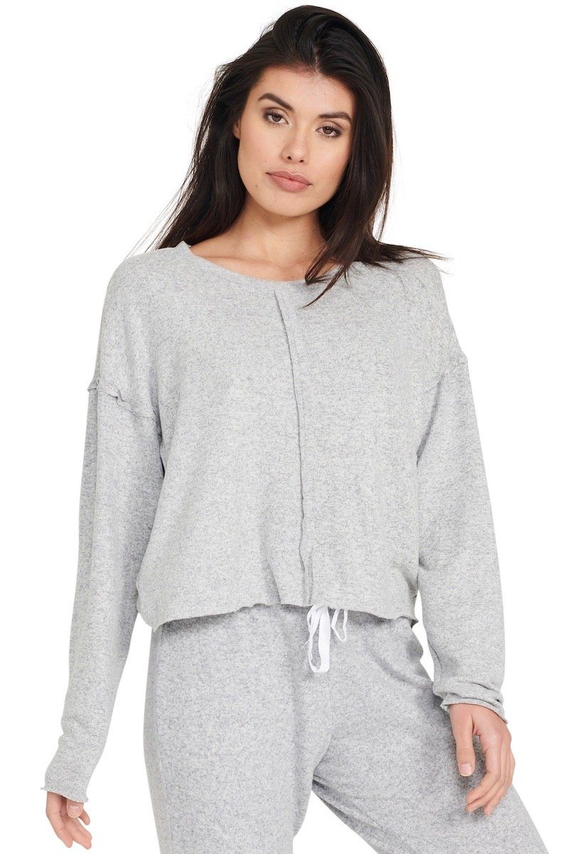 Weekend Crew Pullover - Heather Grey