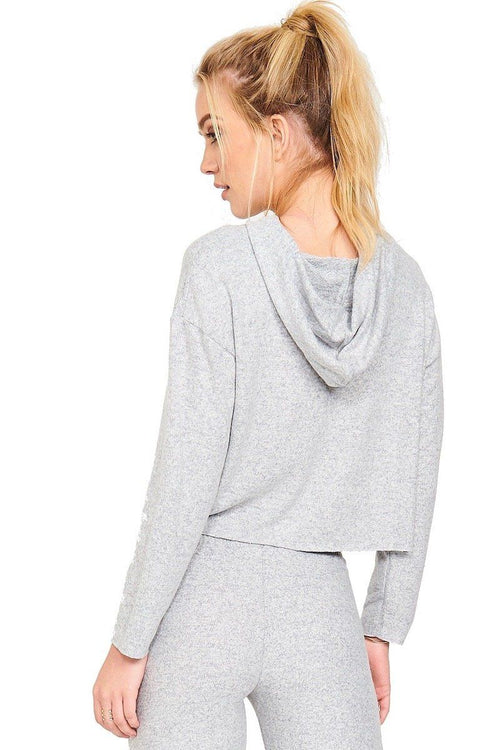 Weekend Crop Hoodie - Heather Gray