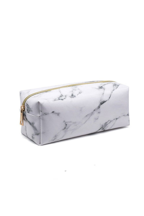 White Marble Cosmetic Case