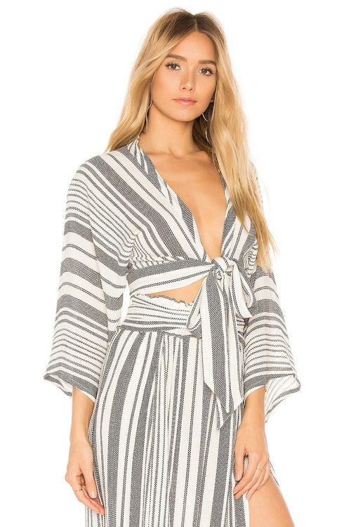 Wrapped Top - Boho Stripe