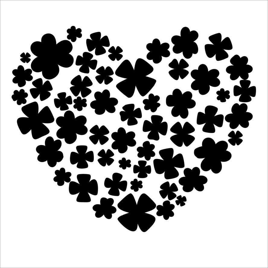 Stencil - The Hedgehog Hollow - Shamrock Heart - Square