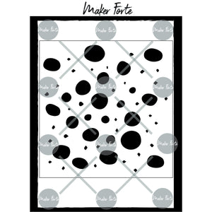 Stencil - Mansi Makes - Dots & Dips Art Marks - Square