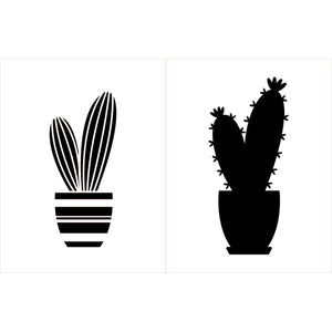 Stencil - Maker Forte - Feeling Prickly - Cactus A2 - layered