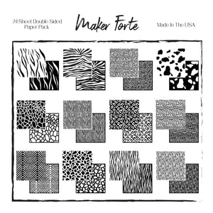 Cardstock - Printed Paper - Maker Forte - A Walk on the Wild Side - 6x6 Double sided