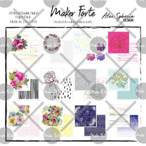 Alex Syberia Design - Rosey Days Patterned Paper Pack - Maker Forte