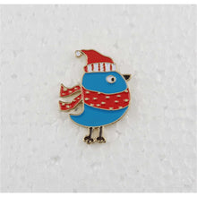 Load image into Gallery viewer, Enamel Pins - Alex Syberia - Blue Robin Pin - Maker Forte