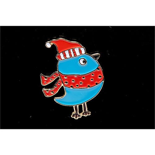 Enamel Pins - Alex Syberia - Blue Robin Pin - Maker Forte
