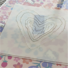 Load image into Gallery viewer, Stencil - The Hedgehog Hollow - Heart Geode Stencil Builder
