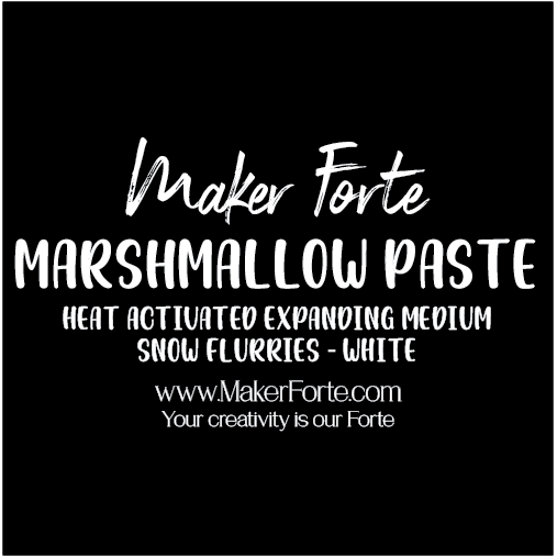 Marshmallow Paste - Snow Flurries - Maker Forte