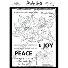 Load image into Gallery viewer, Stamps - Alex Syberia Design - Poinsettia - Maker Forte