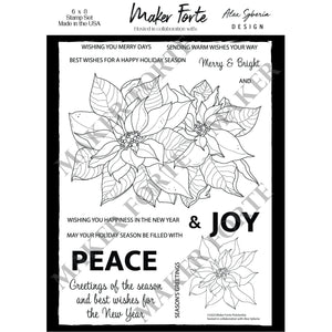 Stamps - Alex Syberia Design - Poinsettia - Maker Forte