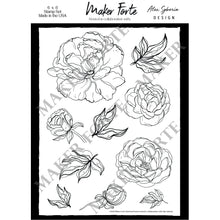 Load image into Gallery viewer, Stamps - Alex Syberia Design - Sketched Peony - Maker Forte