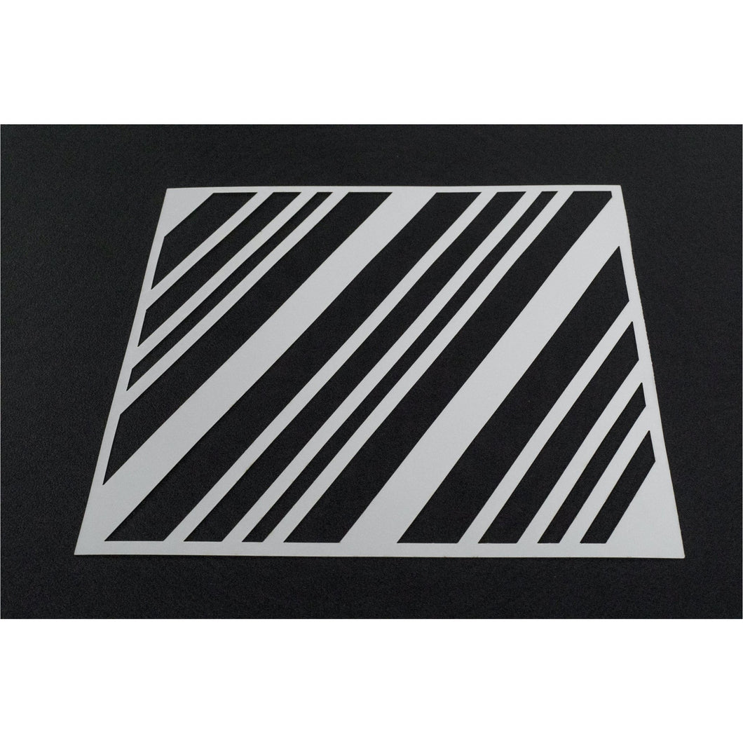 Stencils - Alex Syberia Design - Candy Cane Stripe - Maker Forte