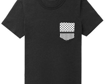 Kufiya Pocket Tee | Black
