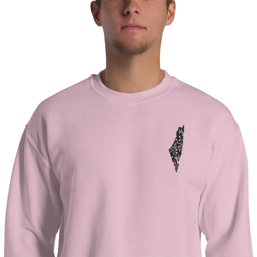 Olive Tree Palestine Sweatshirt | Light Pink