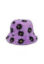 Load image into Gallery viewer, Lilac Daisy Fluffy Bucket Hat