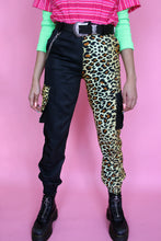 Load image into Gallery viewer, Leopard Split Cargo Pants