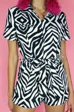 Load image into Gallery viewer, Zebra Illusion Short Boilersuit