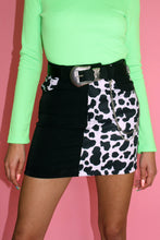 Load image into Gallery viewer, Cow Print Skirt